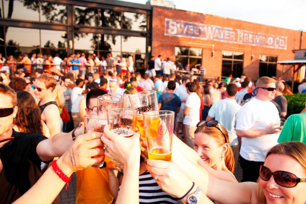 Grab a drink at SweetWater Brewery Together