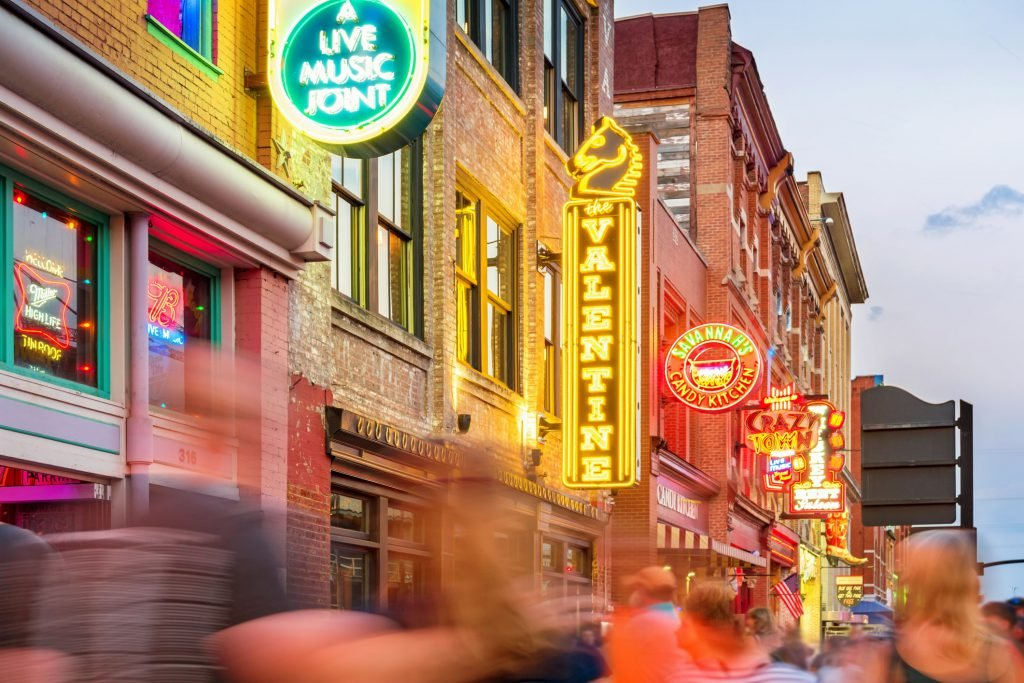 One of the most popular free things to do in Nashville is walk down Broadway