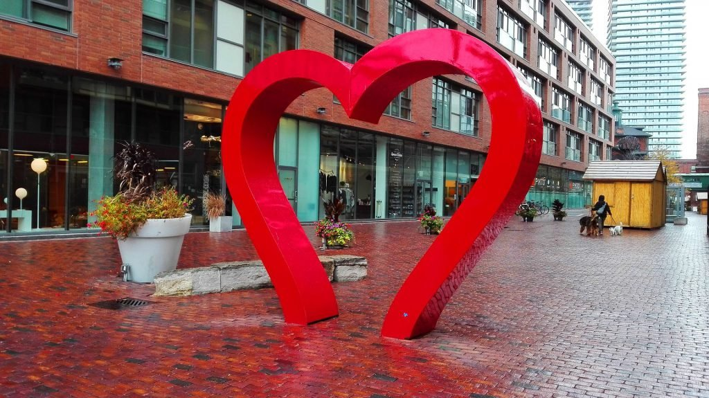 One of the most romantic things to do in Toronto is snap a photo under the heart!