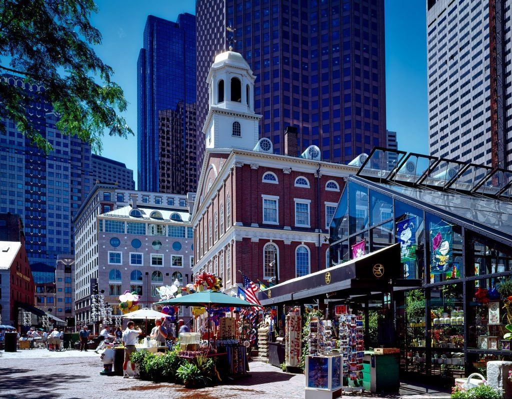 A stroll through Faneuil Hall is a quick and easy option for free things to do in Boston